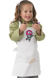 Kids White Bib Apron with Brain Freeze Screen Print
