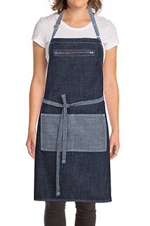 Manhattan Bib Apron - side view