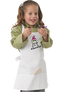 Kids With Bib Apron with Grill Screen Print - side view