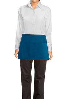 Waist Apron: Blue - side view