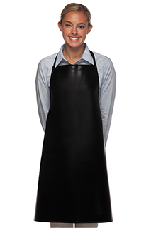 No Pocket Vinyl Bib Apron - side view