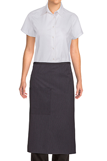 Bistro Apron With Contrasting Ties - side view