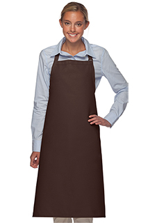 No Pocket Bib Apron: 36 Inch - side view