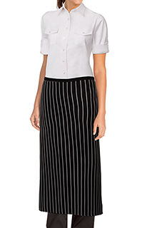 Striped Bistro Aprons: Chalk stripe - side view