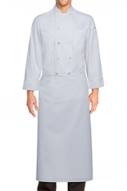 Long Four-Way Apron: White
