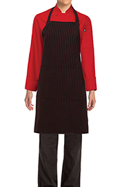 Red Striped Bib Aprons - Chef Works Chef Aprons Collection