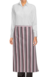 Striped Bistro Aprons: Berry/gray/black