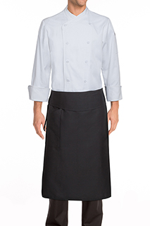 Tapered Chef Apron: Black - side view