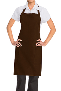 Two Patch Pocket Bib Apron - side view