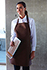 Two Patch Pocket Bib Apron - back view
