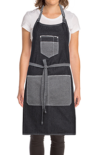 Bronx Bib Apron With Scoop Neck - side view