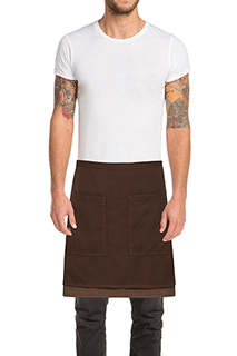Soho Contrast Half Bistro Apron - side view